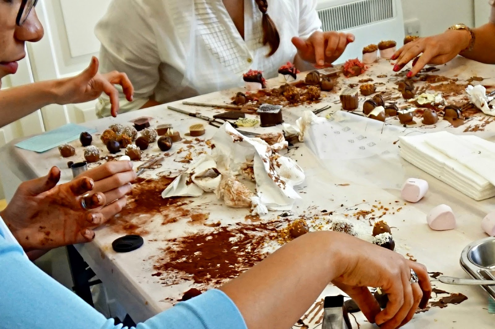 bloggers chocolate making