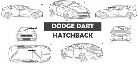 2013 Dodge Dart Hatchback Patent leaked