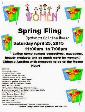4-25 Spring Fling Galeton Moose