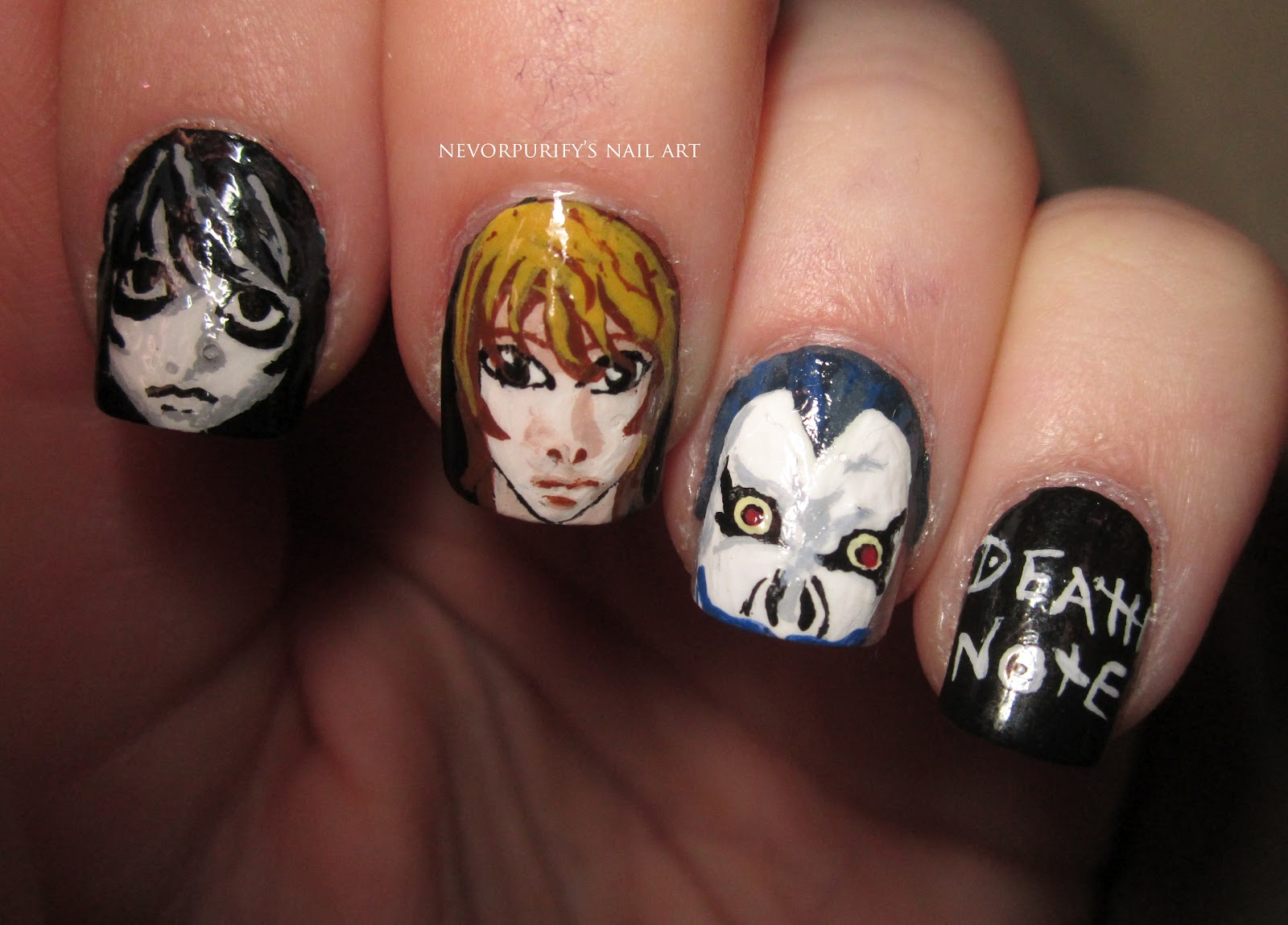 Death Note | Nevorpurify\'s Nail Art