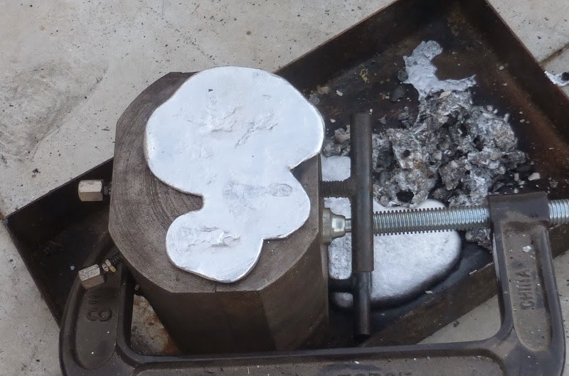 soap dish die casting mold after pouring