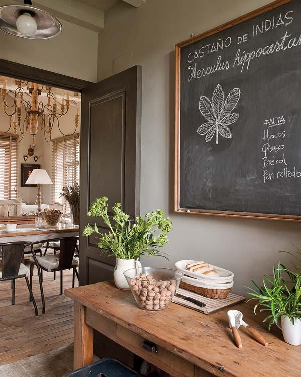proyecto decoracion rustico vintage-pizarra antigua cocina