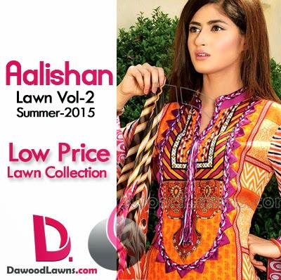 Dawood Aalishaan Chiffon Lawn 2015 Vol. 2