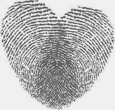 "♥  ♫ ♥ Want this fingerprint heart tattoo... Omg I'll be able to get each of the girls thumb prints! Although the ""criminal"" in me I guess lol is Leary of finger prints immortalized forever ;) ♥  ♫  ♥"