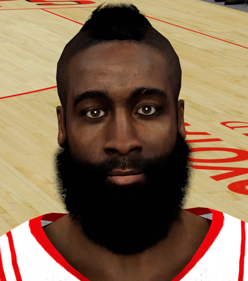 NBA 2K14 James Harden Face Mod