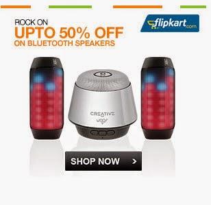 FLipkart: Buy Bluetooth Speakers upto 50% Off on Speakers from Rs. 1690