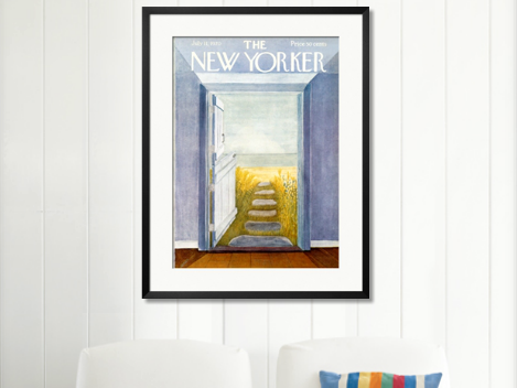 Awesome new yorker framed art print