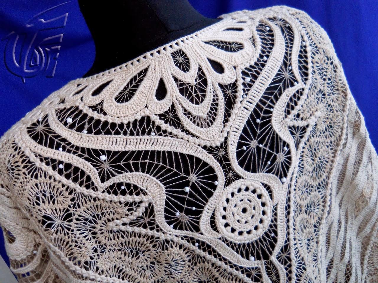 Вязание шалей вилками