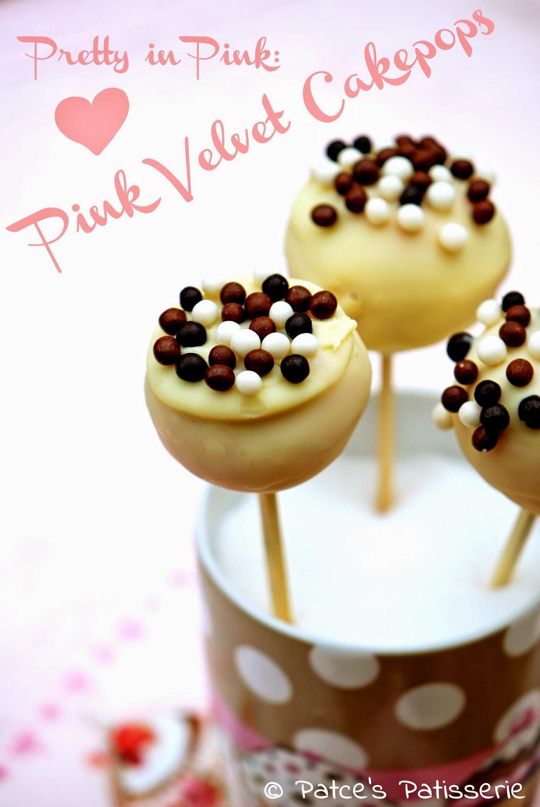 Patces Patisserie Juni 2014 Red Velvet Nougat Cake 30x30cm Pretty In Pink Cakepops Think