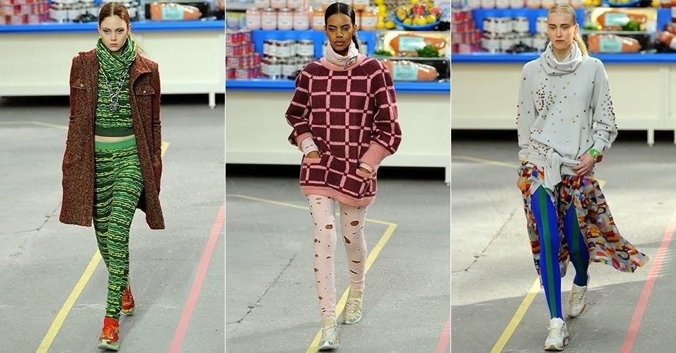 a gola rolê dos anos 60 Chanel Inverno 2014