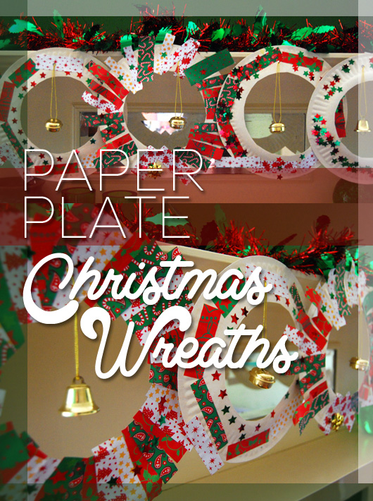 Our paper plate Christmas wreaths were so much fun to make. Both kids loved them and made them their own..... and they spent ages at the craft table ... & At home with Ali: Paper Plate Christmas Wreaths