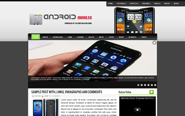 Android Mobiles Blogger Template