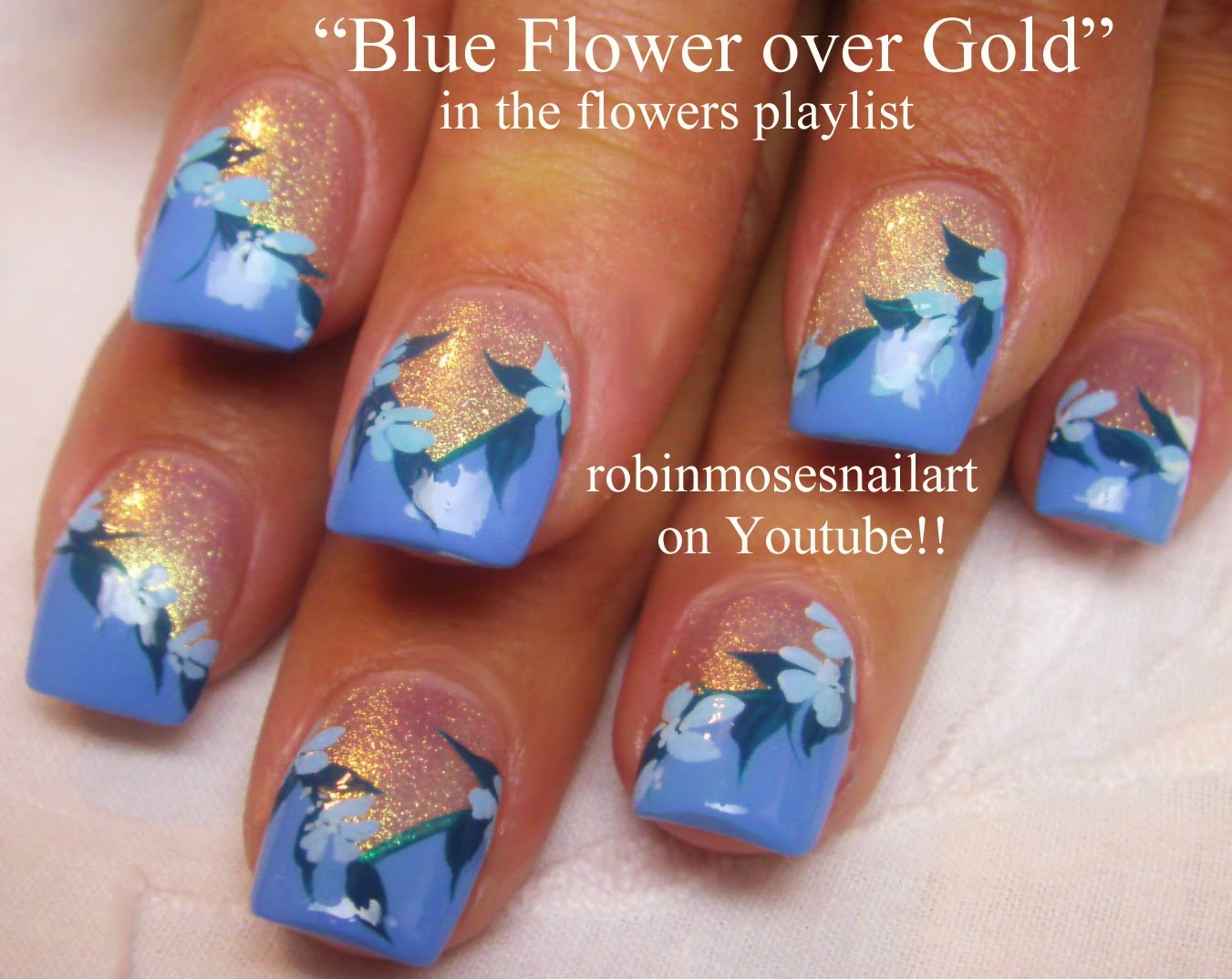 The Glamorous Flower nail designs diy Pics