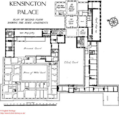 Inside Kensington Palace on 1 story floor design