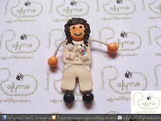 Enfermera 4 hecha con Fimo