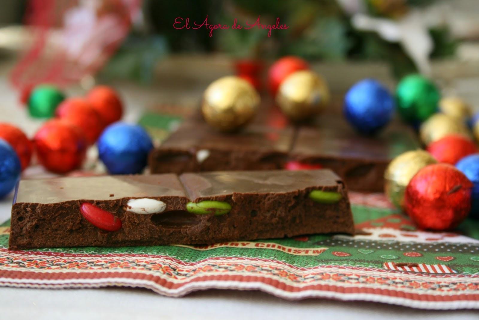 Turrón de chocolate,Lacasitos,Navidad