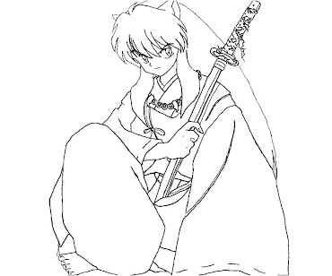 #9 Inuyasha Coloring Page