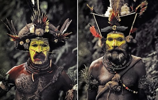 Huli people, Indonesia y Papúa Nueva Guinea