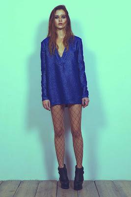 blue glitter tunic