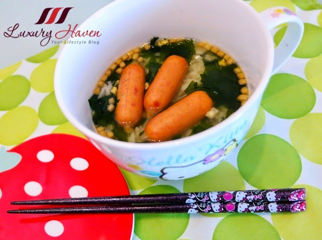 hello kitty cpfoods pork sausage ochazuke recipe