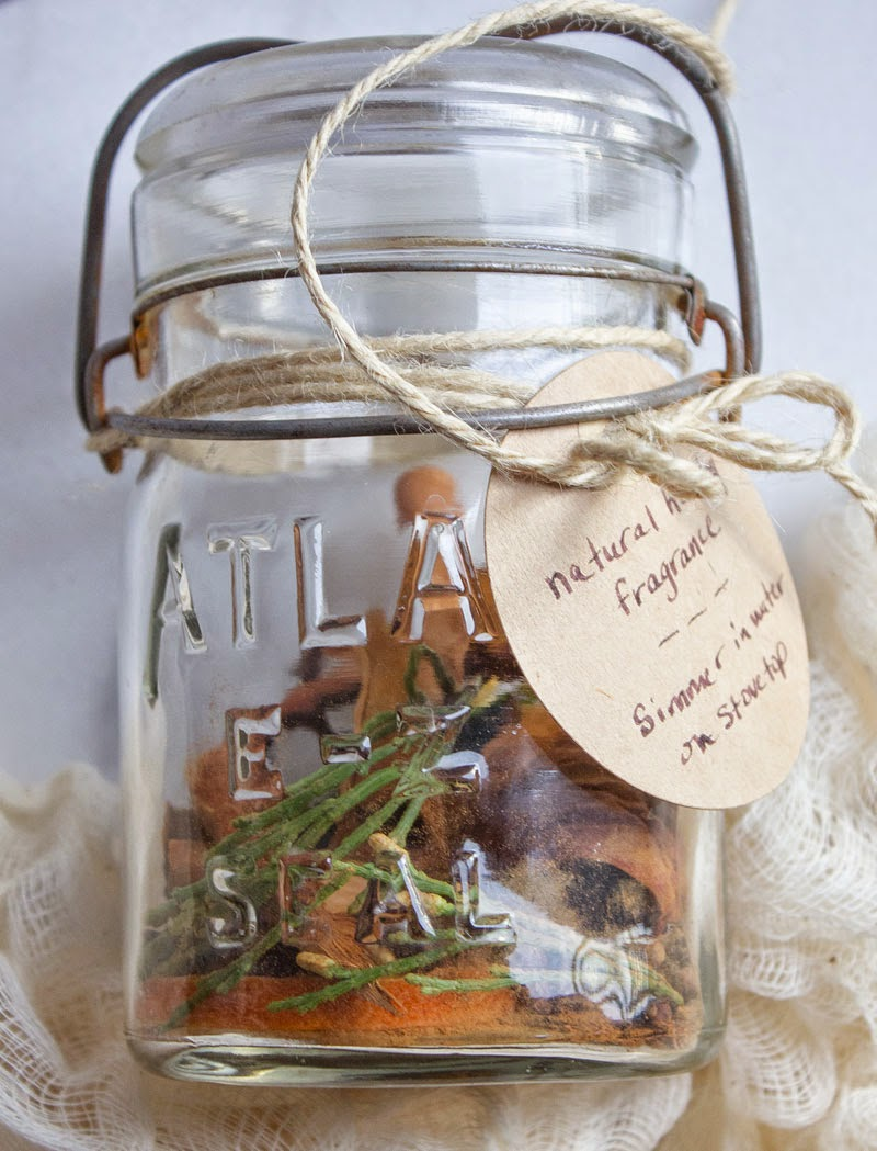 natural air freshener for the holidays; handmade