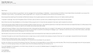 contoh email penipuan