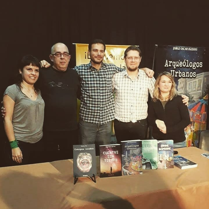 Charla entre escritores-Feria del libro 3F 2018