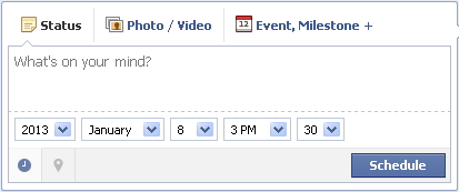 How to Preschedule Facebook status update on Facebook