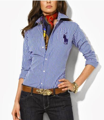 Womens Red Ralph Lauren Polo Shirt