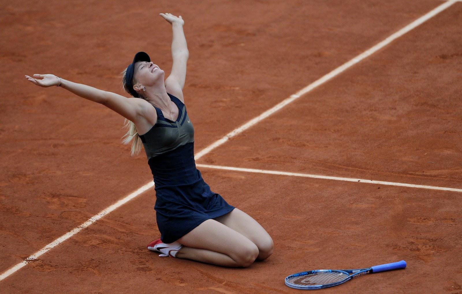 Maria Sharapova celebra su segundo Roland Garros
