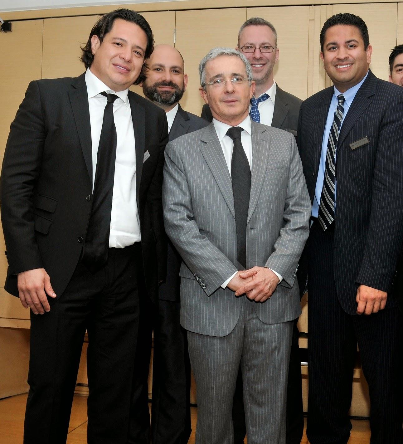 Camilo Concha with Alvaro Uribe