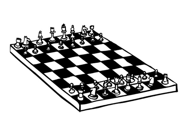 Xadrez desenho para colorir