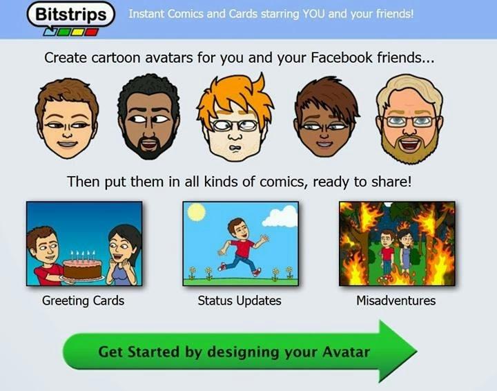 برنامج bitstrips 2014 لتصميم الصور الكارتونية للاندرويد