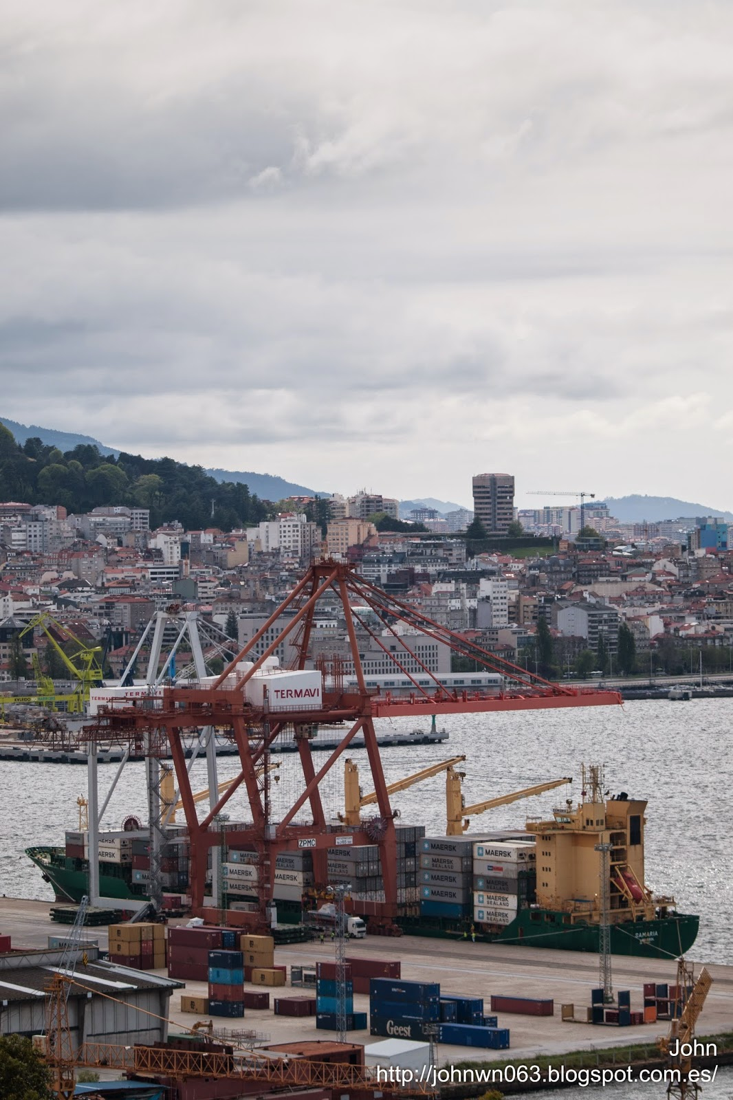 samaria, container ship, fotos de barcos, imagenes de barcos, vigo, portacontenedores