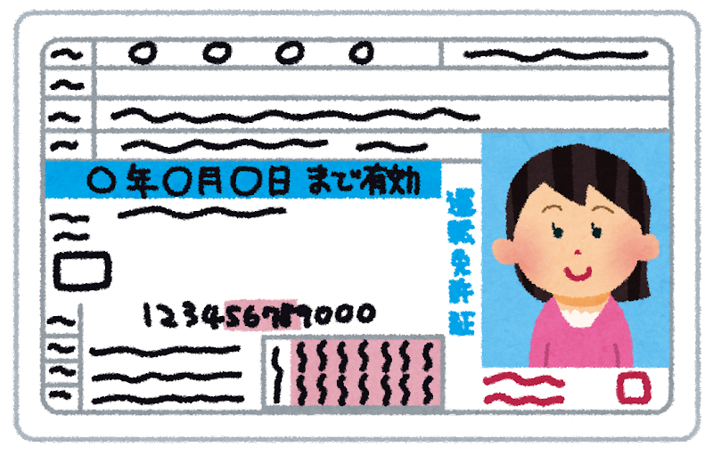 かわいいフリー素材集 いらすとや  運転免許証のイラスト(女性): 無料イラスト かわいいフリー
