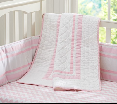 Pottery Barn Pink Baby Bedding