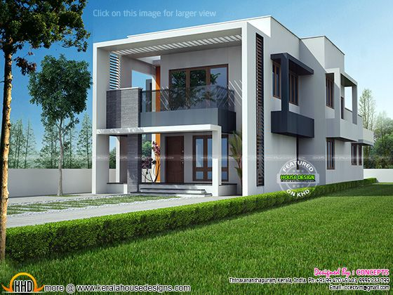 Modern house exterior elevation