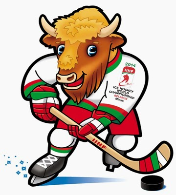The mascot of the 2014 IIHF World Championship - Belarus