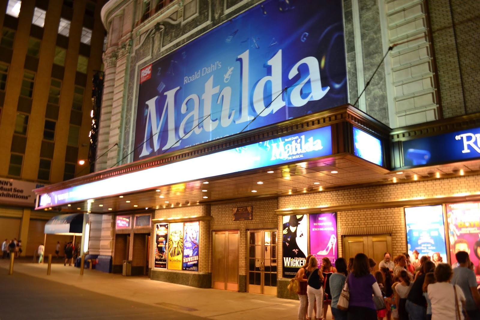 Broadway, NYC, Matilda