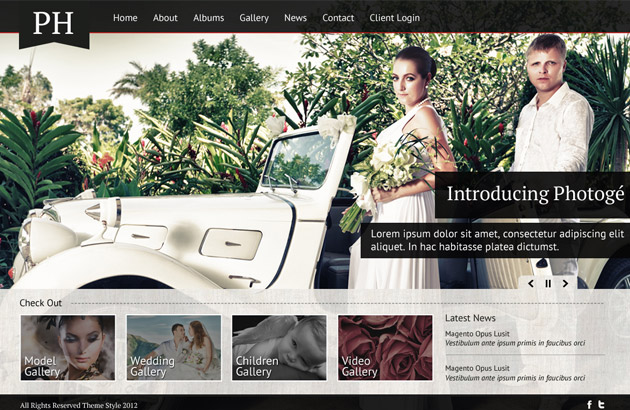 Wedding And Photography Web Template In PSD - Photography website templates free download
