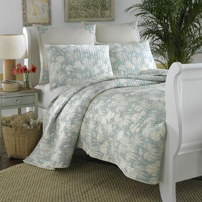 tommy bahama floral aqua tropical quilt