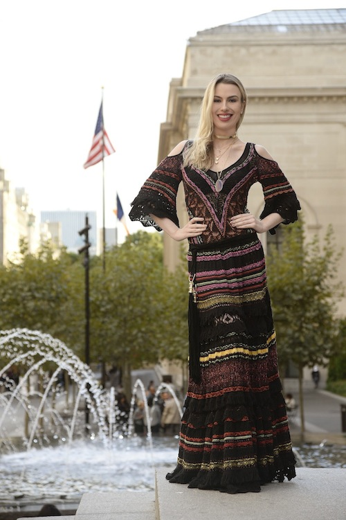 e2bf04a7b21eb Metropolitan NYC  vestido de tricô Cecilia Prado