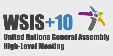 Logo of WSIS+10 UNGA high-level meeting, Dec 15-16, New York City
