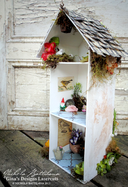 Tall garden Cottage with Tutorial - Nichola Battilana