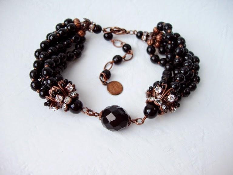 Antique Briare Prosser beads from France Eesti disain käsitöö käekett mdmB Katrin Altmeri