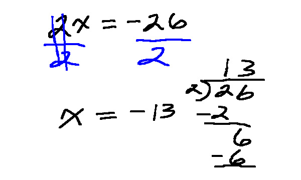 Solving one step equations with multiplication and ision algebra