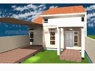 desain rumah mungil minimalis tipe 57