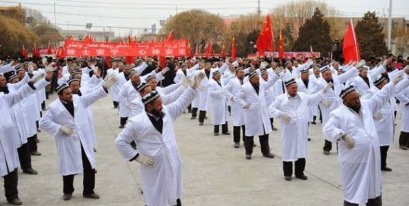 china imams dancing streets