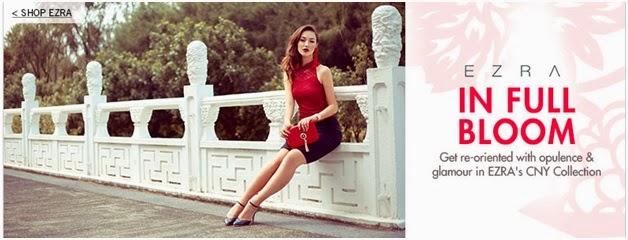 zalora malaysia, ezra collections, ezra cny collection, cheongsam, women dress, women attire, red style, chinese new year dress, opulence, glamour