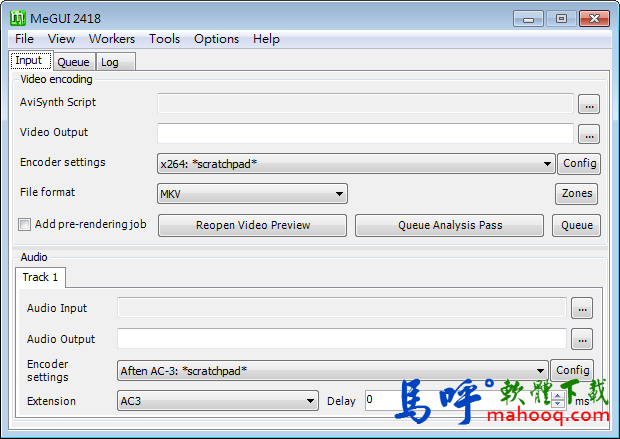 MeGUI Portable 免安裝綠色版下載,影片壓縮軟體、影片轉檔軟體 免費版下載